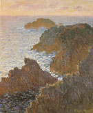 Claude Monet Rocks at Belle Ile 1886