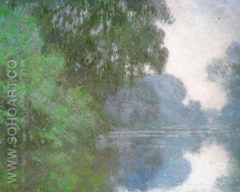 Morning on the Seine 1896 - Claude Monet reproduction oil painting