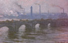 Waterloo Bridge Cloudy Day 1899 - Claude Monet