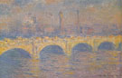 Waterloo Bridge London Sunlight Effect 1903 - Claude Monet