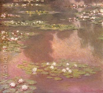 Water Lilies Giverny 1905 - Claude Monet reproduction oil painting