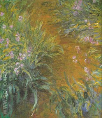 The Path Through the Irises 1916 - Claude Monet reproduction oil painting