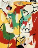 Franz Kline Black on Green Red and Yellow 1948
