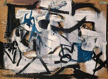 Gray Abtraction 1949 - Franz Kline reproduction oil painting