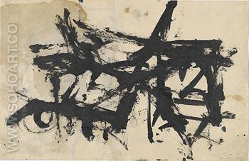 Untitled 1947 - Franz Kline reproduction oil painting