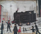 Level Crossing with Train - L-S-Lowry