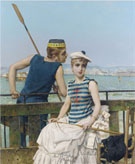 Vittorio Matteo Corcos At The Regatta 1889
