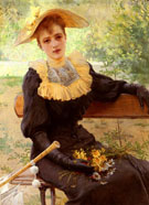 Vittorio Matteo Corcos In The Garden 1892