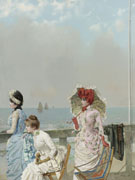 Vittorio Matteo Corcos Mezzogorno Al Mare 1884