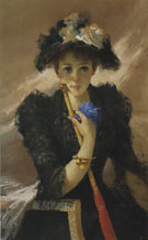Vittorio Matteo Corcos Signora Con Ombrellino c1884