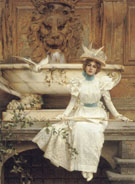 Vittorio Matteo Corcos Waiting By The Fountain