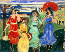 Maurice Prendergast Four Girls in Meadow c1913