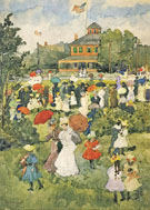 Franklin Park Boston A c1895 - Maurice Prendergast