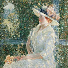 An Outdoor Portrait of Miss Weir 1909 - Childe Hassam