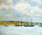 A Parade of Boats - Childe Hassam reproduction oil painting