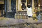 La Bouquetiere and La Latiere 1888 - Childe Hassam reproduction oil painting