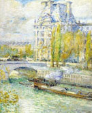 Le Louvre Et Le Pont Royal - Childe Hassam reproduction oil painting