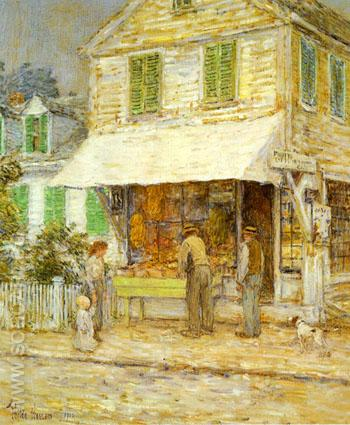 Provincetown Grocery Store 1900 - Childe Hassam reproduction oil painting