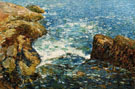 Childe Hassam Surf and Rocks 1906
