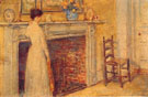 The Fireplace 1912 - Childe Hassam reproduction oil painting