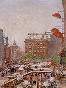 View of Broadway and Fifth Avenue - Childe Hassam reproduction oil painting
