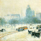Childe Hassam Winter In Union Square c1892