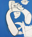White in Blue 1947 - Hans Hofmann reproduction oil painting