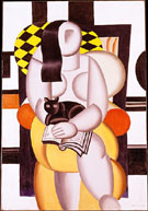Fernand Leger Woman with Cat 1921