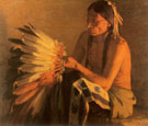 Old War Bonnet 1916 - Joseph Henry Sharp