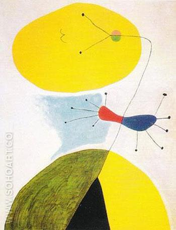 Portrait 1938 - Joan Miro reproduction oil painting