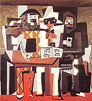Pablo Picasso Three Musicians Wearing Masks (1921)