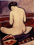 August Macke Sitting Nude (1911)