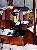 St Mary's in the Snow 1911 - August Macke reproduction oil painting