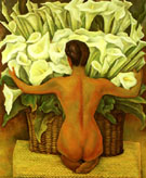 Diego Rivera Nude with Calla Lilies 1944