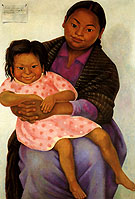 Diego Rivera Modesta and Inesita 1939