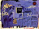 Untitled  Blue Skyline - Jean-Michel-Basquiat