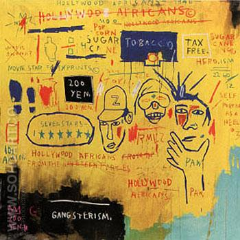 Hollywood Africans - Jean-Michel-Basquiat reproduction oil painting