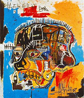 Untitled Skull 1981 - Jean-Michel-Basquiat reproduction oil painting