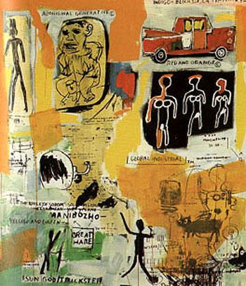 Untitled Graffiti - Jean-Michel-Basquiat reproduction oil painting