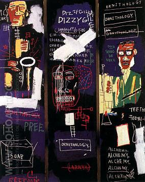 Horn Players - Jean-Michel-Basquiat reproduction oil painting