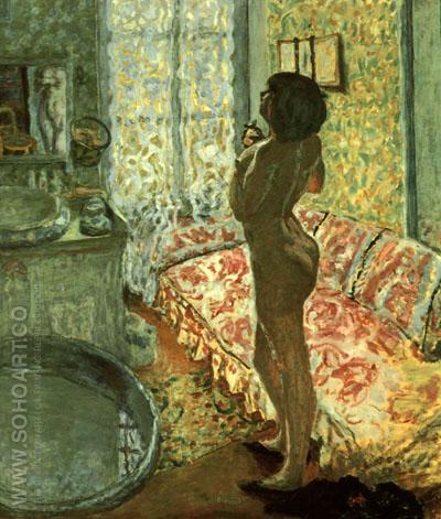 Nude Against Daylight 1908 - Pierre Bonnard reproduction oil painting