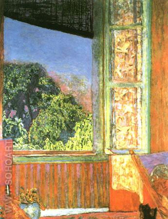 The Open Window 1921 - Pierre Bonnard reproduction oil painting