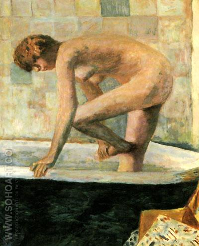 Pink Nude in the Bathtub 1924 - Pierre Bonnard reproduction oil painting