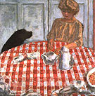 The Red Checkered Tablecloth - Pierre Bonnard reproduction oil painting