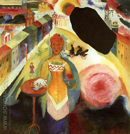 Dame in Moscow 1912 - Wassily Kandinsky reproduction oil painting