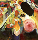 Dame in Moscow 1912 - Wassily Kandinsky