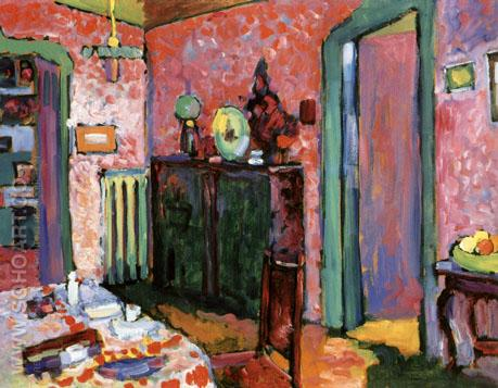 My Dining Room 1909 - Wassily Kandinsky reproduction oil painting