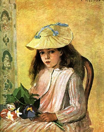 The Artist's Daughter 1872 - Camille Pissarro reproduction oil painting