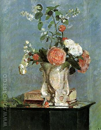 Bouquet of Flowers  1873 - Camille Pissarro reproduction oil painting
