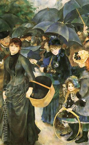The Umbrellas1881 - Pierre Auguste Renoir reproduction oil painting